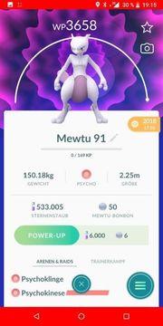 Pokemon Go Account Mewtu 91IV