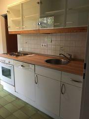 Küche Küchenzeile E-Herd Geschirrspüler Oberschränke
