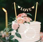 Hochzeits Deko Bastelmaterial Cake Topper