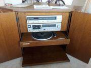 Sideboard Fernseheckschrank mit Stereoanlage Plattenspieler