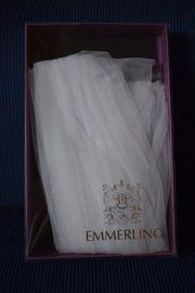 Hochzeitsschleier mit Kamm weiß 1