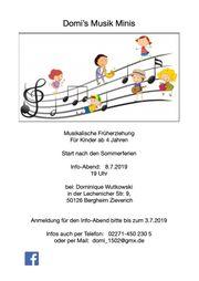 Musikalische Früherziehiehung für Kinder ab