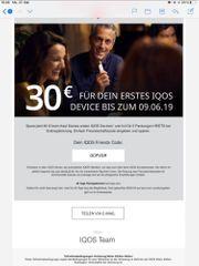 IQOS 30EUR Gutschein für Erstbesteller