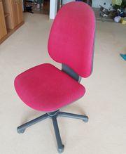 Büro Drehstuhl roter Stoffbezug bequem