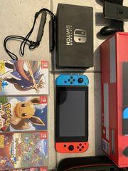 Nintendo Switch mit Spielen