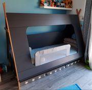 Kinderbett 90x200 tipi wie NEU
