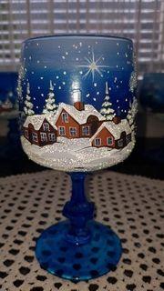 Weihnachtsdekor Handbemalte Gläser
