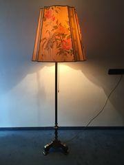 Stehlampe Messing schwer antik mit