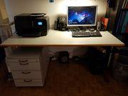 Schreibtisch mit Rollunterschrank