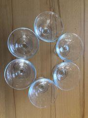 6 Stück Dessert Eis Glasschalen