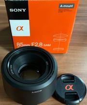 Sony objektiv SAL 85mm F2