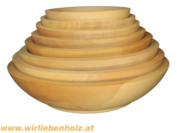 Holzschale rund Zirbenholz verschiedene Durchmesser