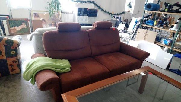 Couch Sofa Zweisitzer braun - modern