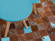 Teppich Kuhfell braun-blau 160 x