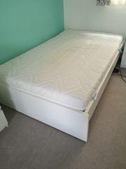 Weißes Hülsta Bett Matratze 120