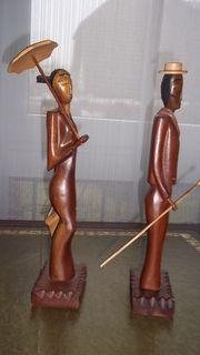 afrikanische Holzskulpturen 1 Set