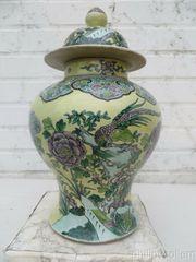 Gelbe chinesische Porzellan Baluster Gläser