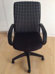 Schreibtischstuhl höhenverstellbar Kippmechanismus schwarz weiß