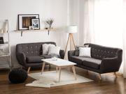 3-Sitzer Sofa Polsterbezug dunkelgrau BODO neu