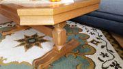 Couchtisch Eiche rustikal massiv - Tischoberseite
