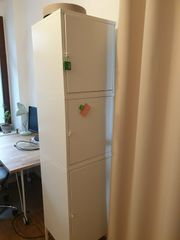 Ikea Hällan Metallschränke weiss