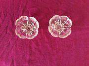 2 Glasblumenkerzenhalter für lange Kerzen