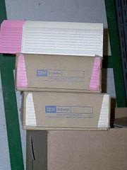 Lochkarten 80 spaltig IBM Rarität