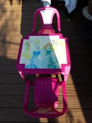 Set Kindertisch 2 Stühle Plastik