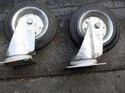 Transportrollen Vollgummirollen 2 Stück