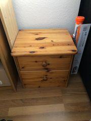 Nachttisch Holz 2 Schubladen