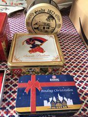 Dekoration 4 Blechdosen Box Schatulle