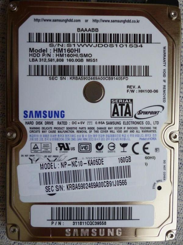 Festplatte Samsung Spinpoint M5S HM160HI