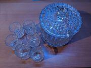 Bowle Glas Set Bleikristall