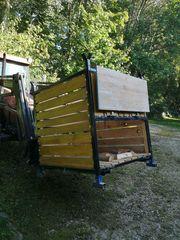 Brennholz-Lager-Behälter