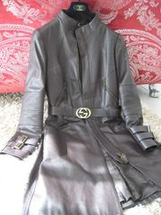 GUCCI Runway Leather Coat LEDERMANTEL