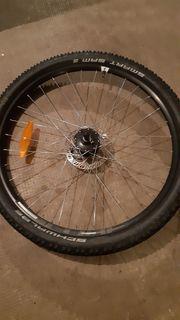 Laufrad 26 Zoll mit Bremsscheiben