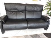 Schwazes Leder Sofa