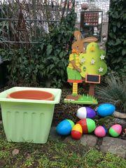 Ostern DEKORATION Hase Eier Blumentopf -