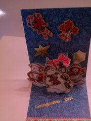 Weihnachtskarten Pop-up-Karten