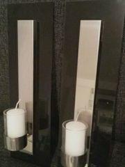2 Wandleuchter mit Kerzen neu
