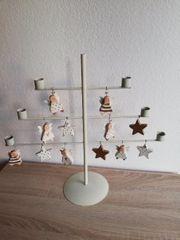 Weihnachtsdeko Älterer Kerzenständer