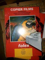 5 Pakete Folex Kopierfolie - clear transparent