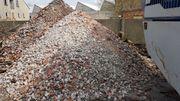 gebrochener Beton - Abruchmaterial