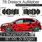 Auto Seitenaufkleber Dekor Dreiecke Tarnmuster
