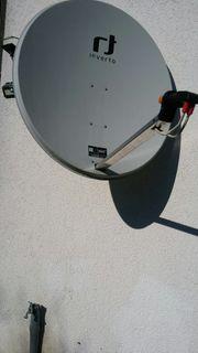 Satellit Schüssel mit 2xTwin LNB