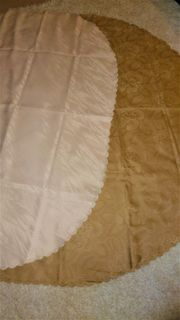 3 große ovale Tischdecken Antifleckenschutz