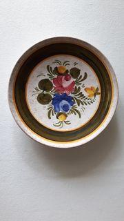 Wandteller Blumenmotiv - Italienische Handarbeit