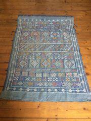 Kelim Teppich blau