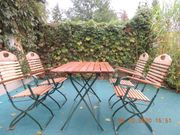 Verk 3 Echtholz-Garten-Garnituren zweckmäßig klappbar