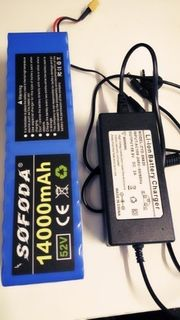 52 Volt Akku Battery für